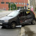 Une voiture accidentee